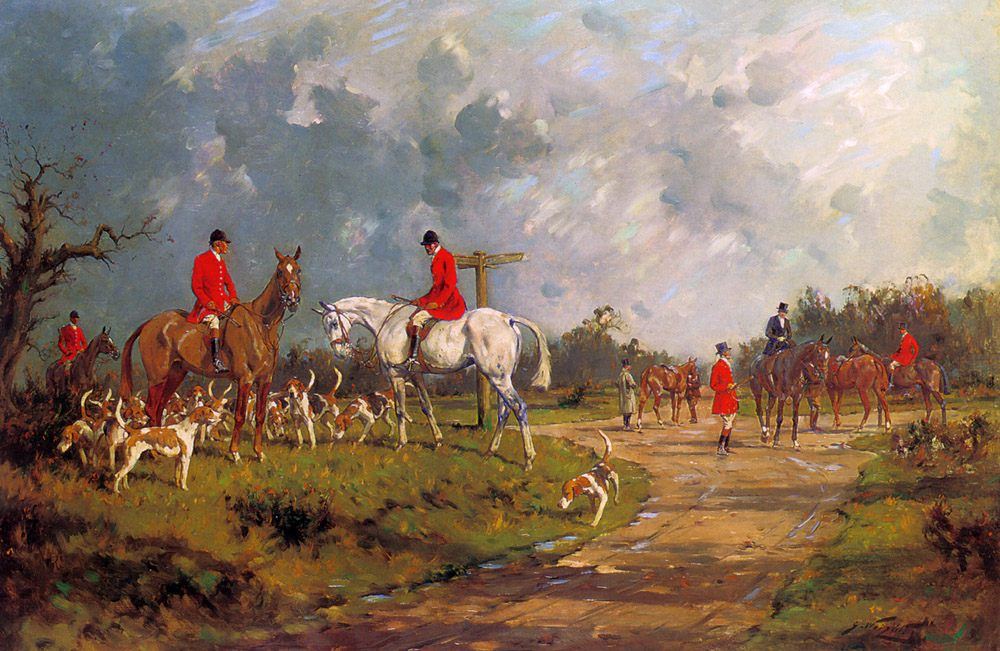 The Meet at the Crossroads :: George Wright - Hunting scenes ôîòî