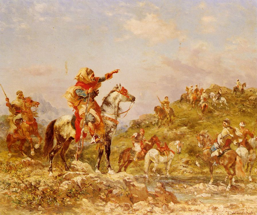 Arab Warriors on Horseback :: Georges Washington - History painting фото