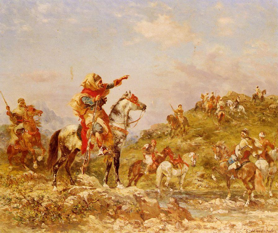 Arab Warriors on Horseback :: Georges Washington - History painting ôîòî
