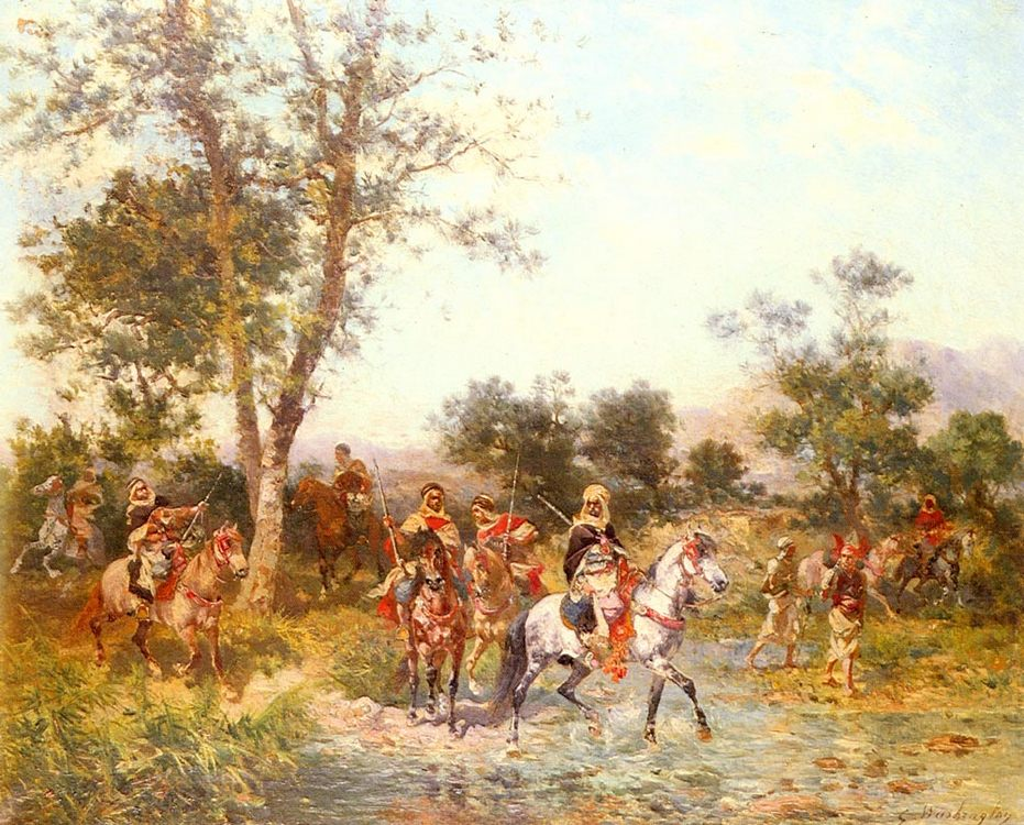 Arab horsemen at water :: Georges Washington - History painting фото
