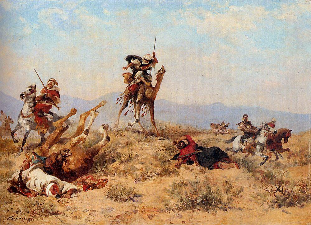 The Skirmish :: Georges Washington - History painting фото