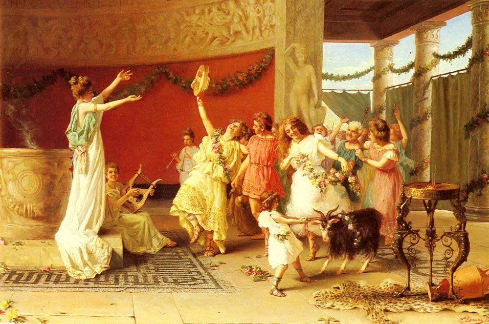 A Roman Dance :: Guglielmo Zoochi - Antique world scenes ôîòî