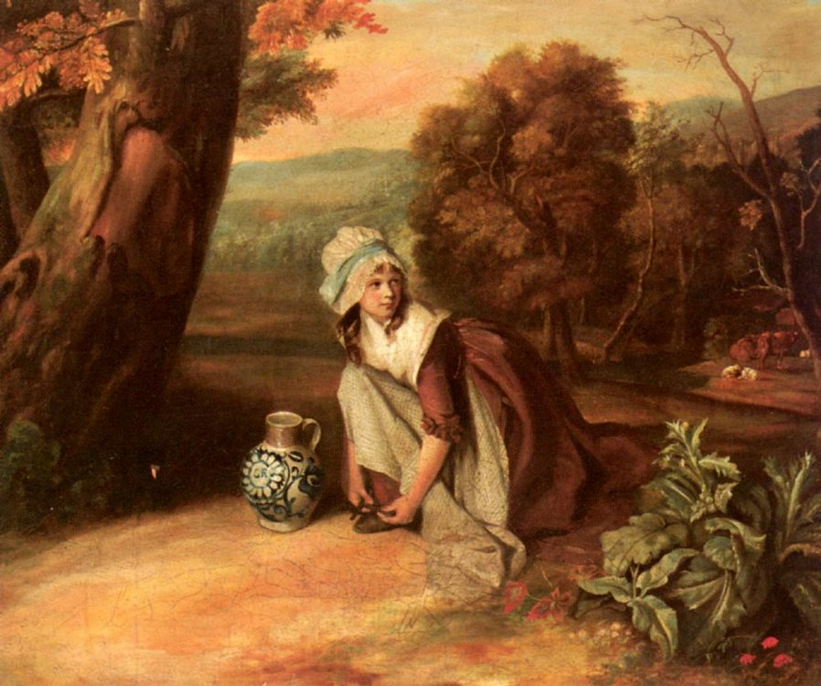A Country Maid :: Henry Walton - Young beauties portraits in art and painting ôîòî