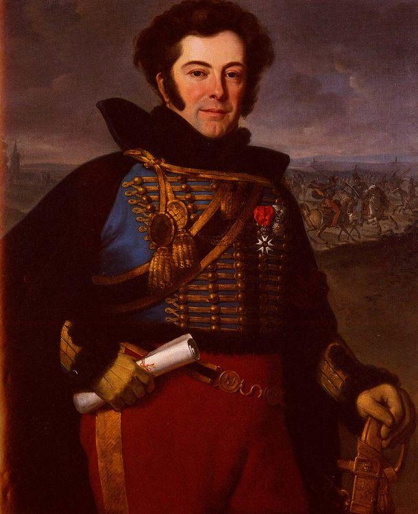 Portrait Of Lieutenant Colonel, Comte De Thalouet :: Horace Vernet - men's portraits 19th century (first half) ôîòî
