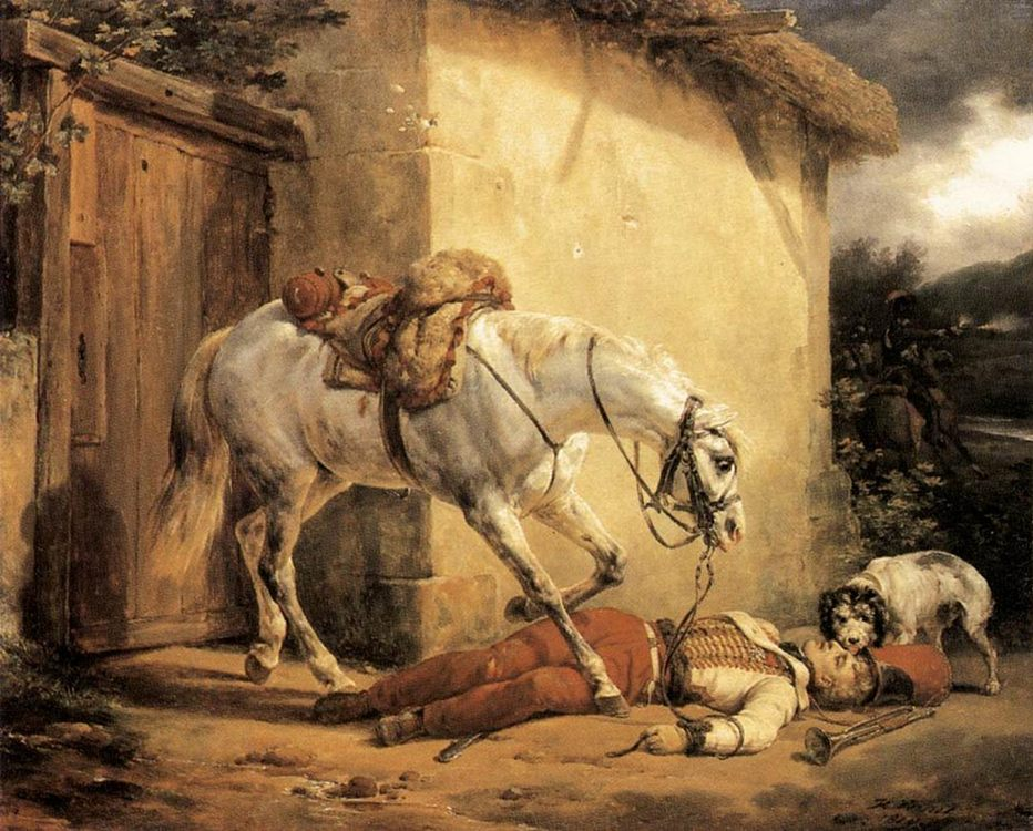 The Wounded Trumpeter :: Horace Vernet - History painting фото