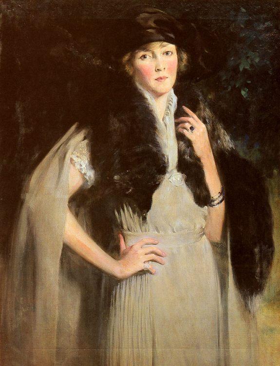 Portrait Of Mrs. Edward W. Redfield :: Irving Ramsay Wiles - 8 female portraits hall фото