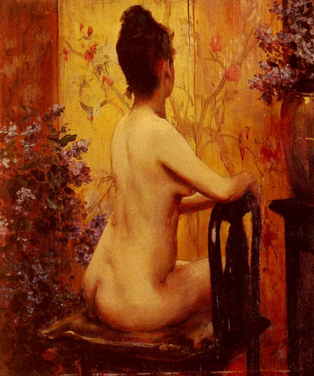 Seated Nude :: Irving Ramsay Wiles - Nu in art and painting фото
