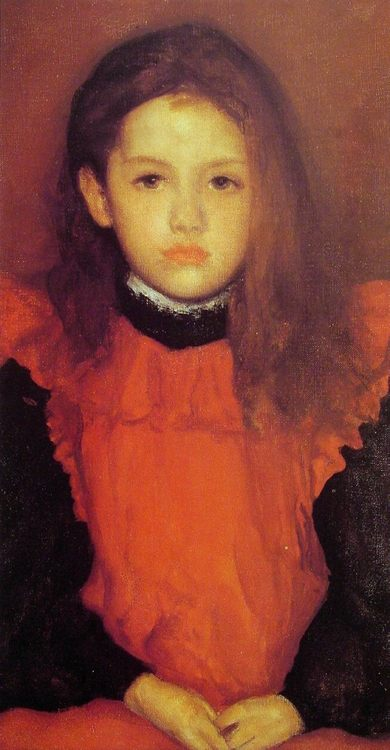 The Little Rose of Lyme Regis :: James Abbott McNeill Whistler - Portraits of young girls in art and painting ôîòî
