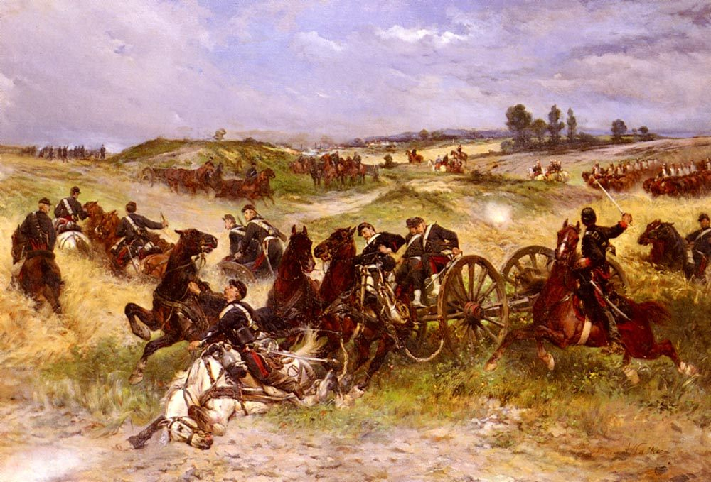 The Fray Of Battle :: James Alexander Walker - History painting фото