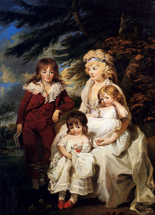 Portrait Of The Hon. Juliana Talbot, Mrs Michael Bryan (1759-1801), With Her Children Henry, Maria And Elizabeth :: James Ward - Woman and child in painting and art фото