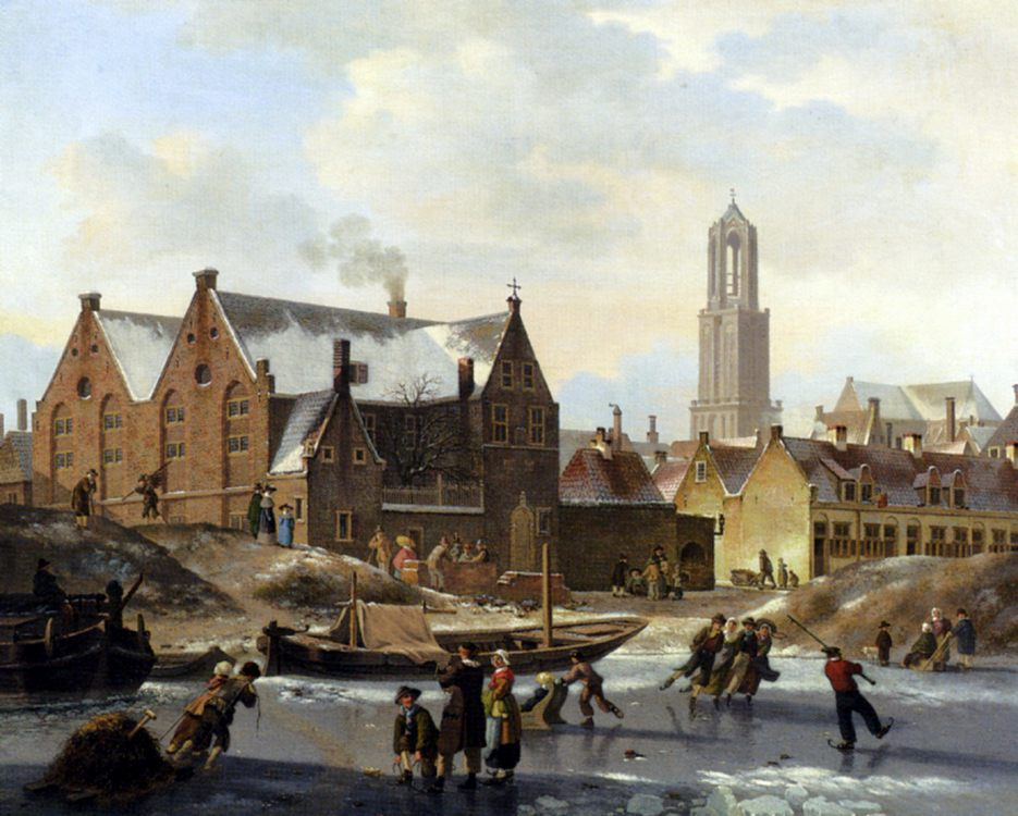 Skaters On A Frozen Canal :: Jan Hendrik Verheijen - Holland and Dutch ôîòî