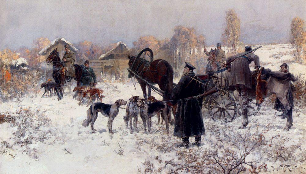 The Hunting Party :: Jaroslav Fr.Julius Vesin - Hunting scenes фото