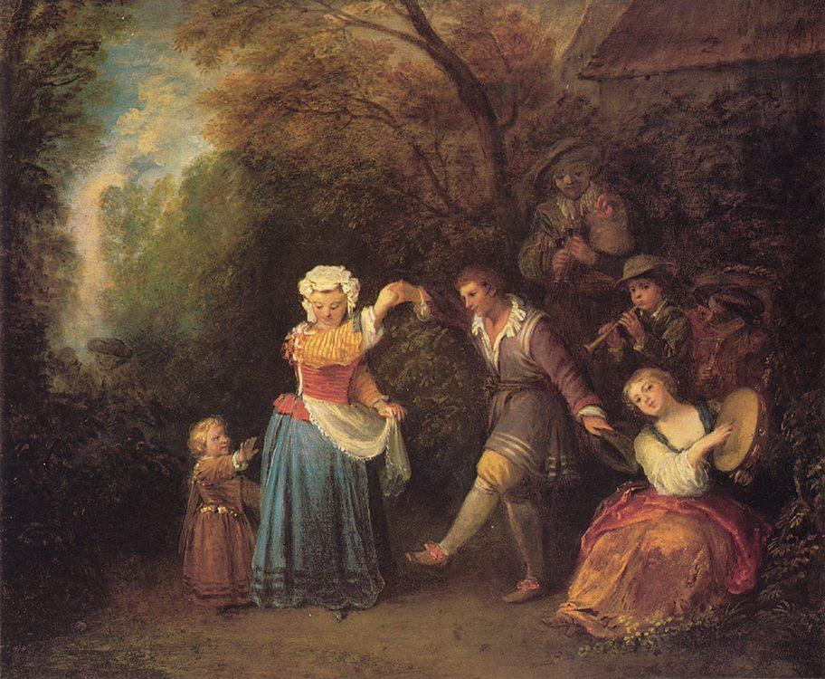 The country dance :: Jean-Antoine Watteau - Picnic ôîòî
