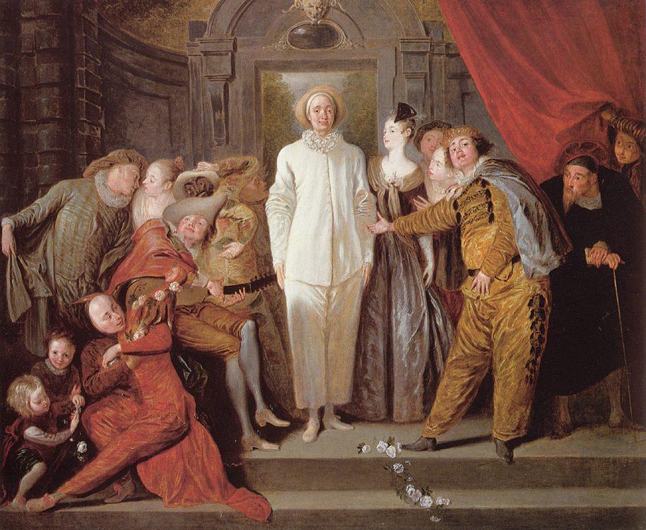 The Italian comedians :: Jean-Antoine Watteau - Balls and receptions ôîòî