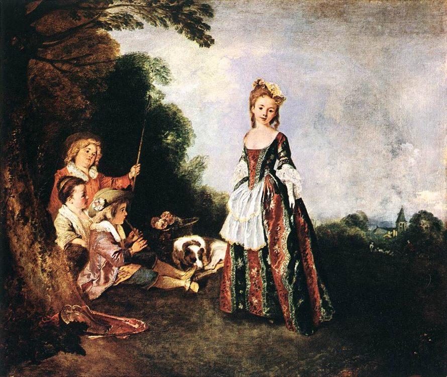 The Dance :: Jean-Antoine Watteau - Picnic фото