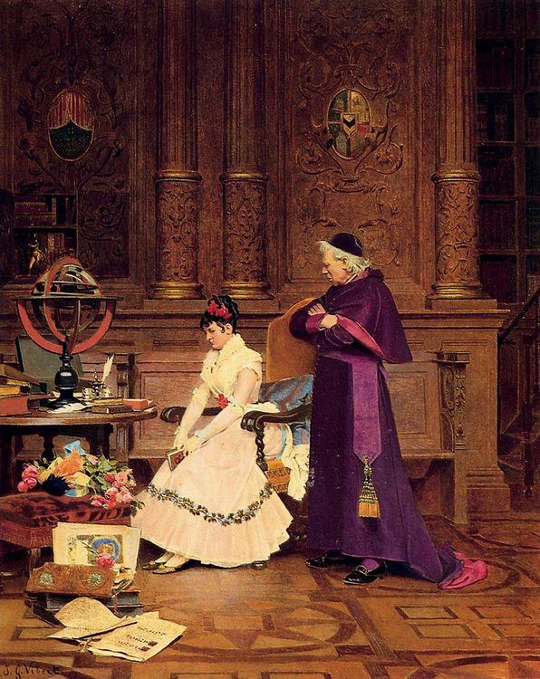 The Reprimand :: Jehan Georges Vibert - Rich interiors ôîòî