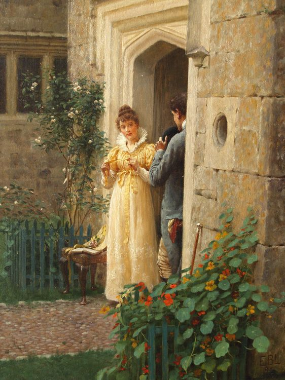 The Request :: Edmund Blair Leighton - Romantic scenes in art and painting фото