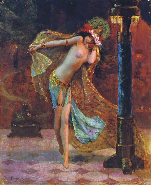Dance of the Veils :: Gaston Bussiere - Nu in art and painting фото