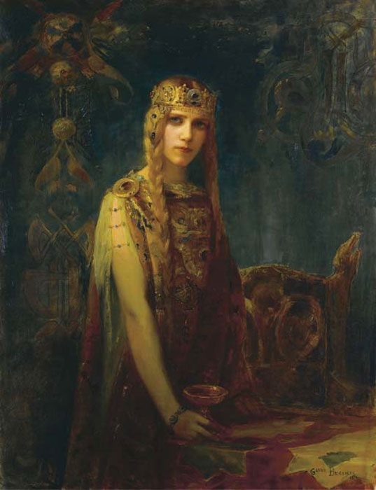 Crown Princess Celt :: Gaston Bussiere - Antique beauties in art and painting фото
