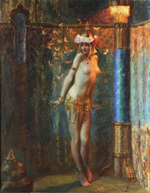 The dance of Salome and The Golden Butterfly :: Gaston Bussiere - Nu in art and painting фото