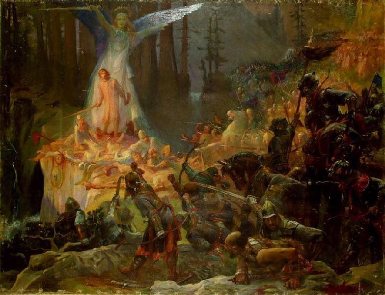 the Mute :: Gaston Bussiere - Antique world scenes фото