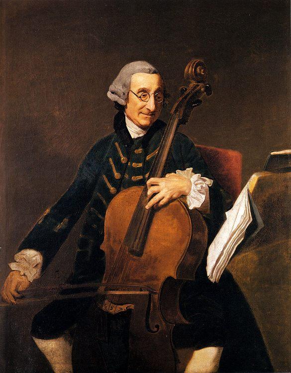 Portrait Of Giacomo Cervetto (1680-1783) :: Johann Zoffany - men's portraits 18th century фото
