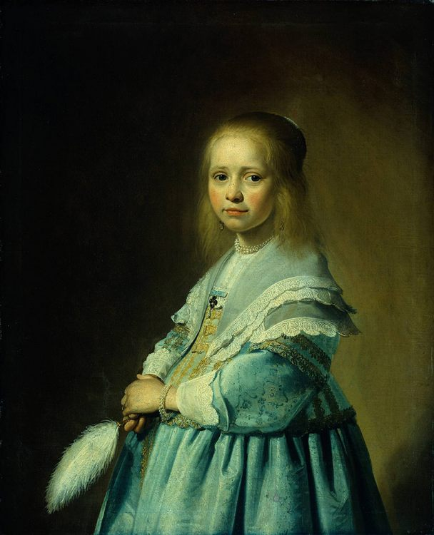 Portrait of a Girl Dressed in Blue :: Johannes Cornelisz. Verspronck - Portraits of young girls in art and painting фото