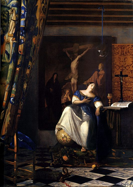 Allegory of the Faith :: Johannes Vermeer - Allegory in art and painting ôîòî