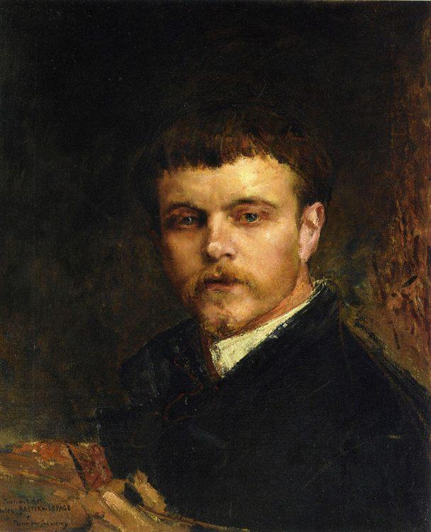 Self Portrait :: Jules Bastien-Lepage - men's portraits 19th century (second half) фото