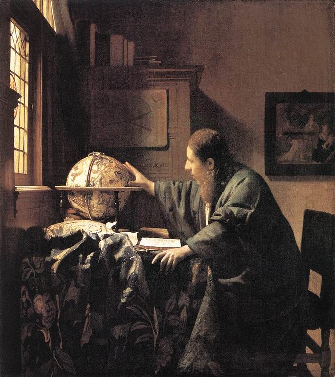 The Astronomer :: Johannes Vermeer - Interiors in art and painting ôîòî