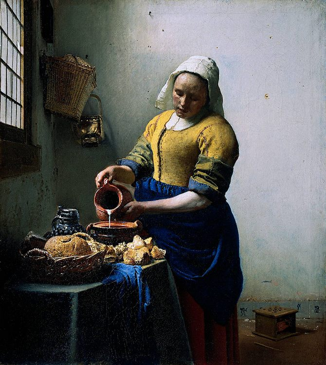 The Kitchen Maid :: Johannes Vermeer - 3 women portraits 17th century hall фото