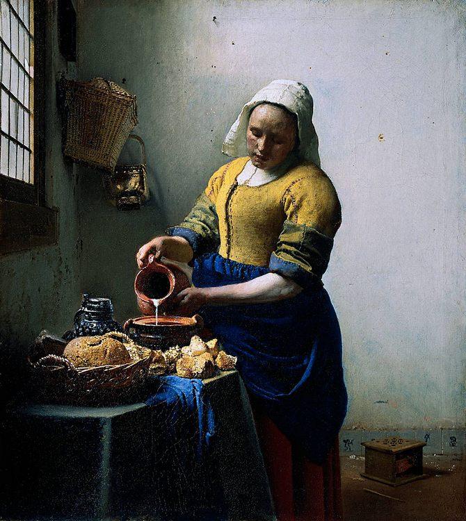 The Kitchen Maid :: Johannes Vermeer - 3 women portraits 17th century hall ôîòî