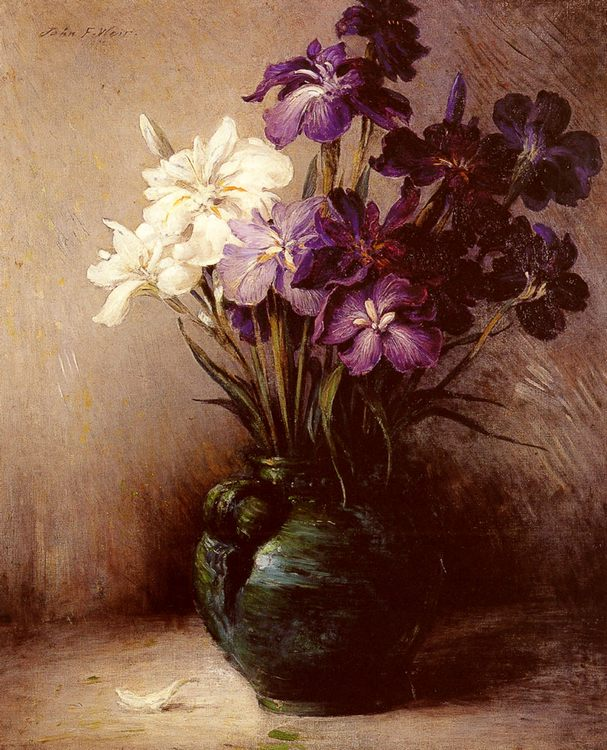 Japanese Iris - Six Varieties :: John Ferguson Weir - flowers in painting ôîòî
