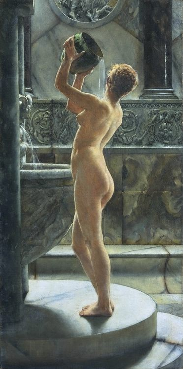 The Bath :: John Reinhard Weguelin - Antique beauties in art and painting фото