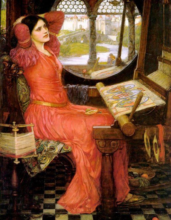 """I am Half-sick of Shadows"", said the Lady of Shalott :: John William Waterhouse  - mythology and poetry фото"