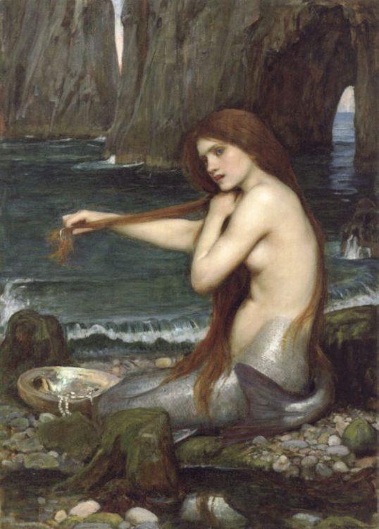 A Mermaid :: John William Waterhouse - mythology and poetry ôîòî