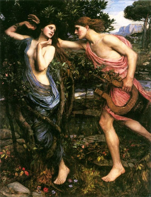Apollo and Daphne :: John William Waterhouse - mythology and poetry ôîòî