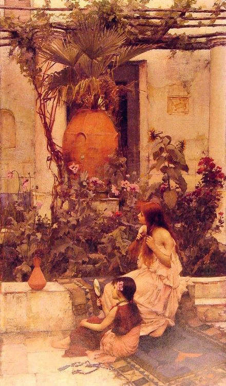 At Capri :: John William Waterhouse - Antique world scenes фото