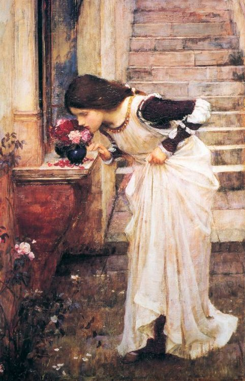 At the Shrine :: John William Waterhouse - Antique beauties in art and painting фото