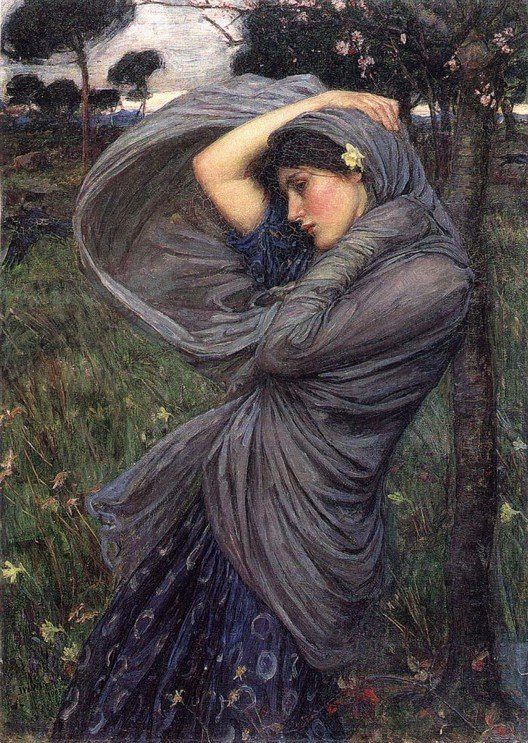 Boreas :: John William Waterhouse - Antique beauties in art and painting фото