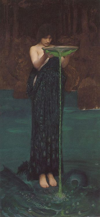 Circe' Invidiosa :: John William Waterhouse - mythology and poetry ôîòî