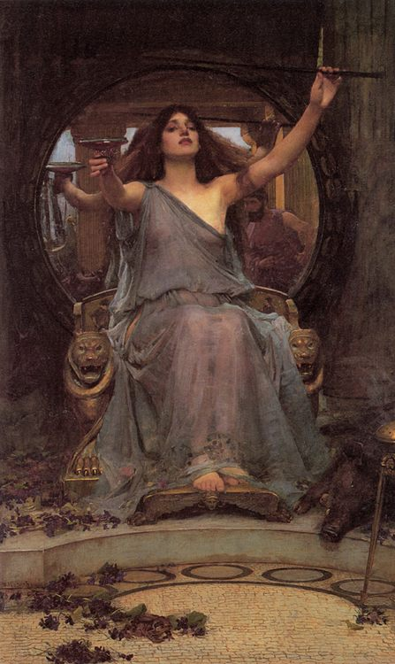 Circe' offering the Cup to Ulysses :: John William Waterhouse - mythology and poetry фото