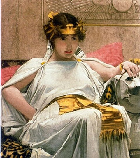 Cleopatra :: John William Waterhouse - Antique world scenes фото