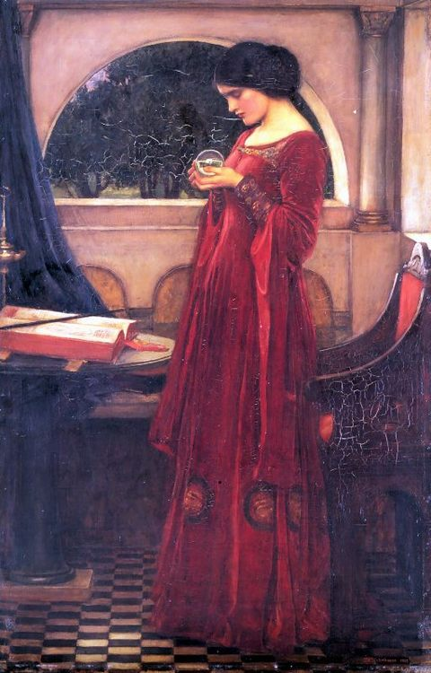 Crystal Ball :: John William Waterhouse - Antique beauties in art and painting фото