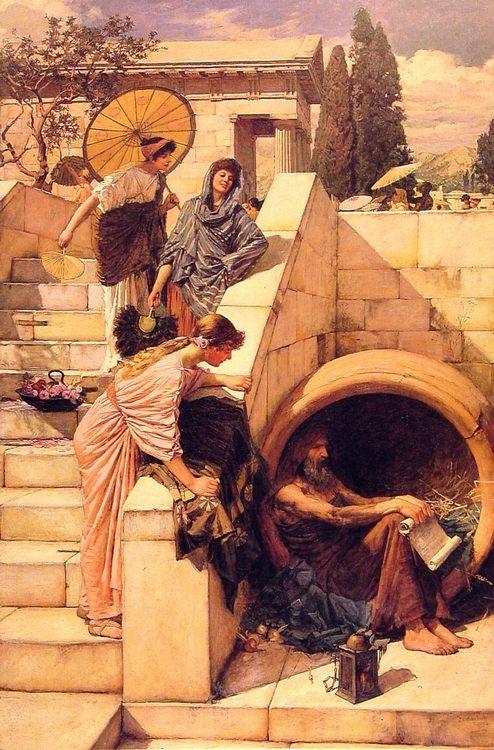 Diogenes :: John William Waterhouse - Antique world scenes фото