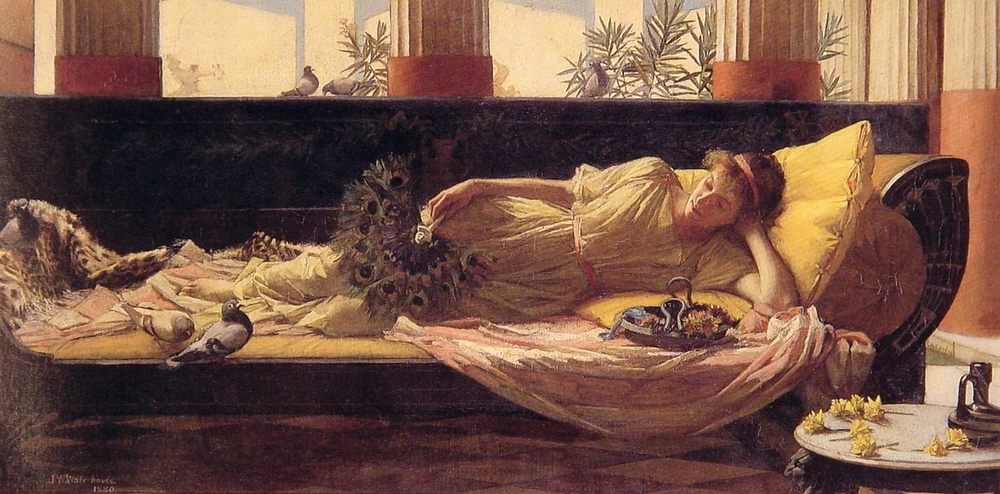 Dolce Far Niente :: John William Waterhouse - Antique beauties in art and painting фото