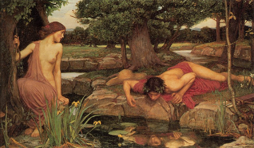 Echo and Narcissus :: John William Waterhouse - mythology and poetry фото