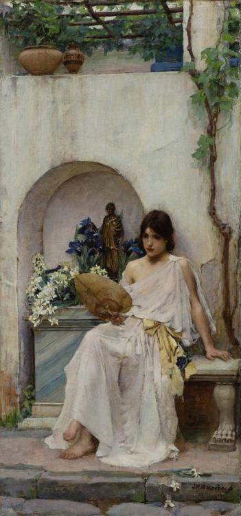 Flora :: John William Waterhouse - mythology and poetry фото