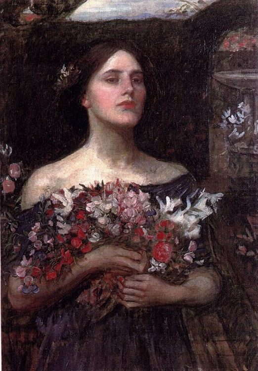 Gather Ye Rosebuds :: John William Waterhouse - Young beauties portraits in art and painting фото