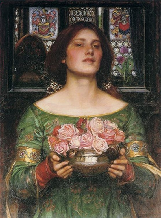 Gather Ye Rosebuds while ye may :: John William Waterhouse - Young beauties portraits in art and painting ôîòî